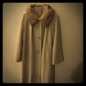 Jackets & Blazers - ILGWU Vintage 100% Cashmere Wool Coat